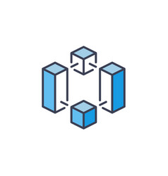 Cryptocurrency and blockchain icon vector