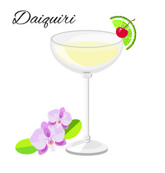 Daiquiri cocktail isolated on white vector