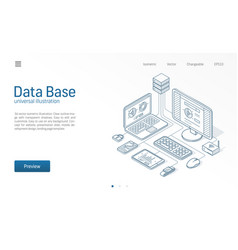 database big data host server modern isometric vector image