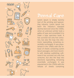 design of web article about dental care vector image