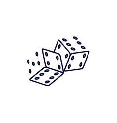 Dice icon logo template creative gambling design vector