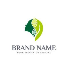 Dna women logo design template vector