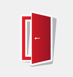 door sign new year reddish vector image