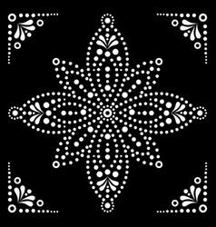 Dot art flower or star traditional aborigi vector