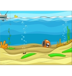 Educational game for children underwater life vector