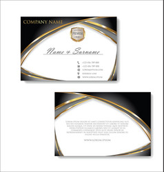 Elegant business card design template 03 vector