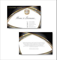 elegant business card design template 03 vector image