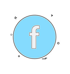 Facebook icon design vector