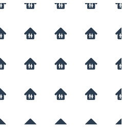 family home icon pattern seamless white background vector image