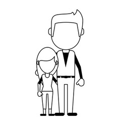 Family members avatars icon image vector