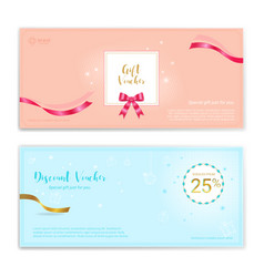 Festive gift certificate voucher gift card or vector