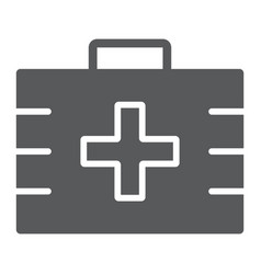 first aid kit glyph icon health and clinical vector image