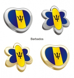flag of Barbados vector image