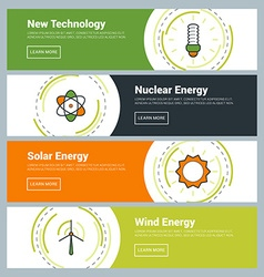 Flat Design Concept Set of Web Banners New vector
