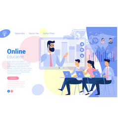 Flat design online education concept vector