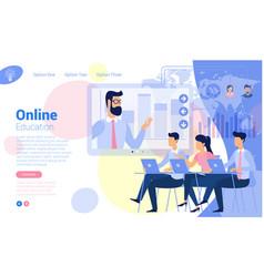 Flat design online education concept vector