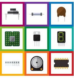 Flat icon appliance set of resistor vector