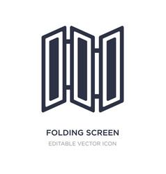 Folding screen icon on white background simple vector