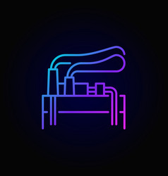 Geothermal energy linear colorful icon vector