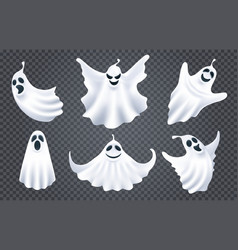 ghost spirits white silhouettes vector image