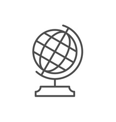 globe or educational equipment line icon vector image