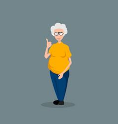 grandmother in cartoon style isolated image vector image