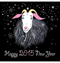 greeting card with a goat vector image