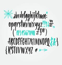 handwritten script brush font vector image