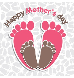 happy mother s day greeting background vector image