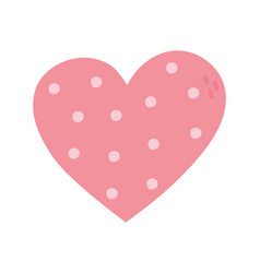 happy valentines day dotted heart love romantic vector image