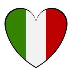 Heart with Italy flag vector