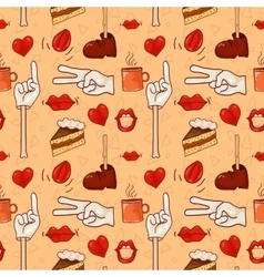 Hipster pattern for cafe vector image