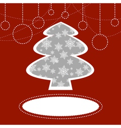 Holiday background with Christmas tree vector image