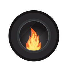 Icon round black modern electric or gas cozy vector