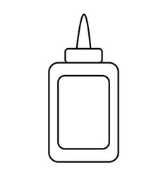 isolated glue bottle design vector image