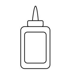 Isolated glue bottle design vector