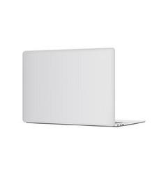 Laptop backside mockup isolated vector