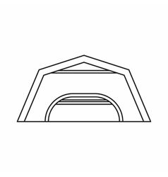 Large garage icon outline style vector image