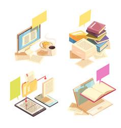 Library 2x2 design concept vector