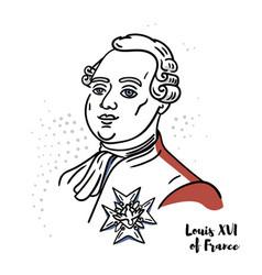 Louis xvi france portrait vector