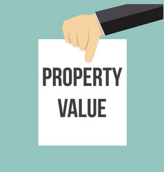 man showing paper property value text vector image