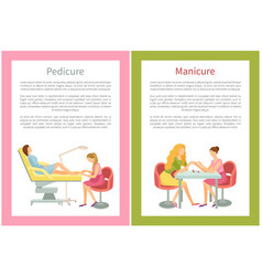 Manicure and pedicure procedures spa beauty salon vector