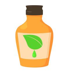 medicine syrup bottle icon cartoon style vector image