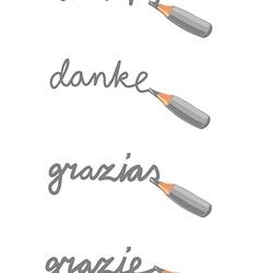 Mini Pencil doodle vector