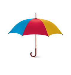 multicoloured umbrella isolated on white vector image