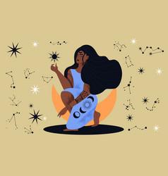 Mystic exotic woman vector
