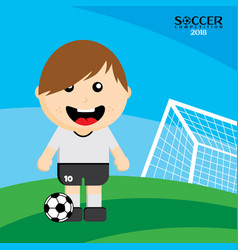 National team soccer tournament 2018 vector