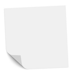 note paper with a bent left bottom corner vector image