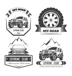 Off-road 4x4 extreme car club logo templates vector