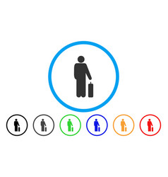 Passenger baggage rounded icon vector